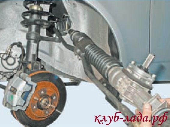 Как заменить рулевую рейку на Ладе-Приоре