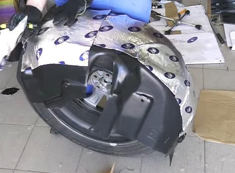 Шумоизоляция арок колёс своими руками