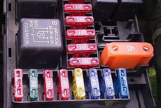 Расшифровка автомобильного блока предохранителей