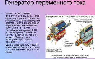 Конструкция и назначение генератора