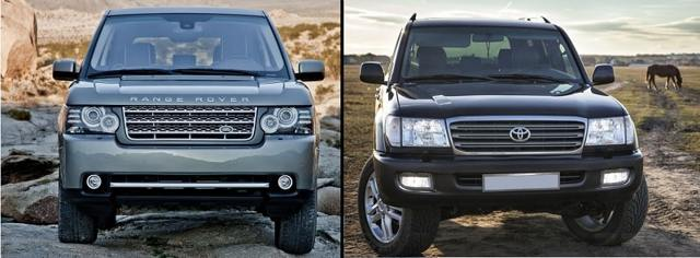 Land Cruiser 200 vs Range Rover, Lexus LX 570, Land Rover Freelander