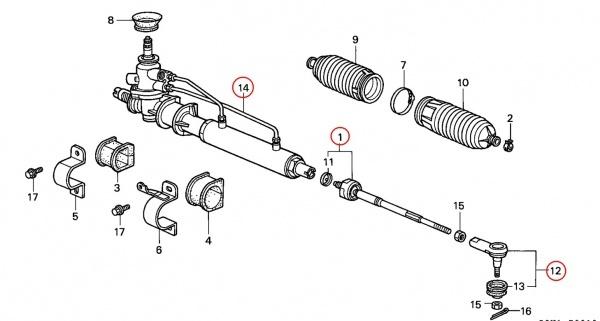 Причины стука рулевой рейки